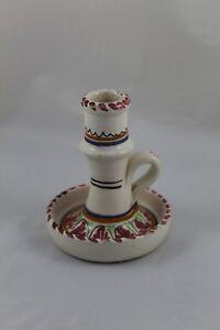 Antigua Palmatoria de ceramica pintada a mano TALAVERA España - 13cm Altura