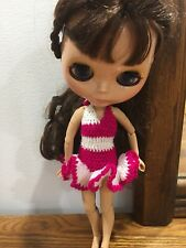 """Crocheted Dress For 12"""" Neo Blythe doll Takara doll Gown Outfit Clothes Gift"""