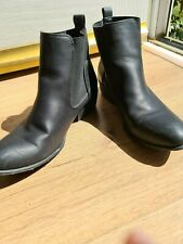 Ladies size 7 Black ankle Boots