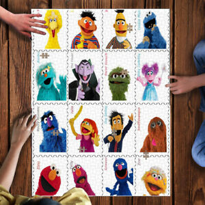 500 Pcs Wooden Puzzle Sesame Street Large Puzzle Adult Game Toy Gift