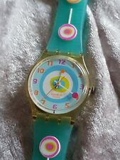 2004 Swatch The Originals GE157 Minty Mouthful Quartz Wristwatch