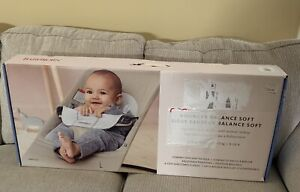 BabyBjorn Bouncer Balance Soft ~ Beige/Gray ~ Cotton Jersey ~ New !