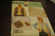 Simplicity 4930 Sewing Pattern Crazy Quilt Blocks, Vest, Bag, Cell Phone Pouch