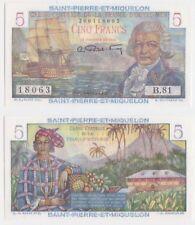 St Pierre & Miquelon P 22 - 5 Francs 1950 1960 - UNC
