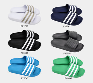 Adidas Men's Women's Adilette Aqua Slides Slip on Flip Flops Sandals UK 6-11
