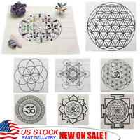 Sacred Geometry Crystal Grid Cloth Altar Cloth Stones Fractal Array Grid Decor