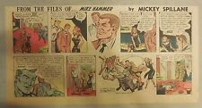 Mike Hammer Sunday Page by Mickey Spillane from 12/27/1953 Third Page Size!
