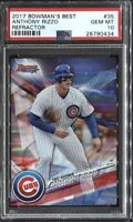 Anthony Rizzo 2017 Bowman's Best Baseball Refractor # 35 PSA 10
