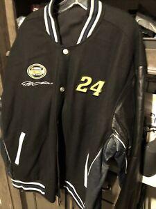 NASCAR Driver Jeff Gordon 24 DuPont Racing Wool/Leather Reversible Jacket Sz 3xl