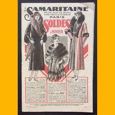 CATALOGUE LA SAMARITAINE Soldes d'hiver 1931