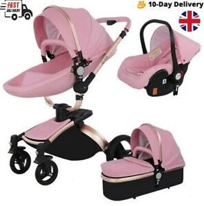 3 in 1 Baby Stroller high Bassinet 360 Rotation buggy travel Pushchair car seat