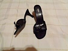 mossimo black sequin heels shoes size 9