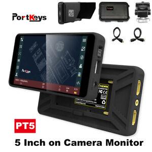 "Portkeys PT5 5"" Monitor 4K HDMI 500nit w/ 3D LUT Waveform for Nikon Sony Canon"