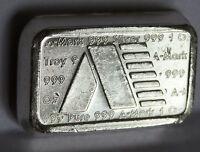 1981 A MARK ART BAR #A171 USVI .999 FINE SILVER STACKER VIRGIN ISLANDS 1 TROY OZ