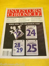 INVESTORS CHRONICLE - WHEN WILL THE RECESSION END? - MAY 10 1991
