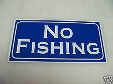 Vintage NO FISHING Metal Sign for golf course country club grounds NEW