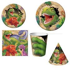 KIT TAVOLA DINO BLAST Party Festa Compleanno Piatti Bicchieri Dinosauri Tavola