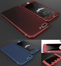Hot Hybrid 360° Shockproof Slim Hard case Cover & Tempered Glass for Samsung