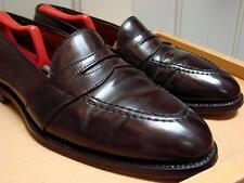 Brooks Brothers 10.5 Alden Shell Cordovan Full Strap Loafer Deep Burgundy