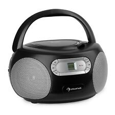 Boombox Ghettoblaster Stereo Portatile Lettore CD Bluetooth Radio FM AUX Nero