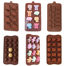 Toys Smiley Face Dinosaur Animal Zoo Silicone Candy Chocolate Soap Molds Baking