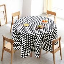 Cotton and Linen Round Tablecloth Romantic Flower Printing Tablecloth Outdoor