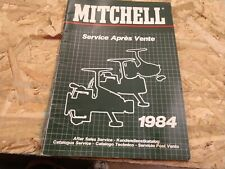 Vintage 1984 Mitchell Fishing REEL parts service catalog manual