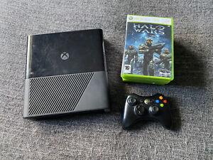 XBOX 360 E BLACK CONSOLE 250gb BUNDLE, 8 games, controller, Wires, HDMI