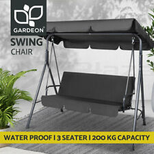 Gardeon Outdoor Furniture Swing Chair Hammock 3 Seater Garden Bench Seat Canopy