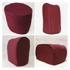 Burgundy Quilted Double Faced Cotton Appliance Cover