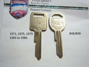 Key Blanks Chevorlet Pontiac Oldsmobile Buick Cadillac 1971,1975,1979,1983 to 86