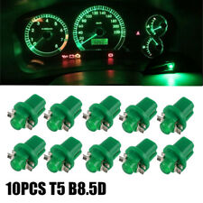 10x T5 B8.5D 5050-1SMD LED Instrument Panel Cluster Dash Light Lamp Green DC 12V