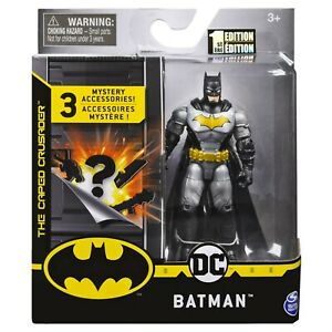 Batman 4-Inch Rebirth Tactical Batman Action Figure with 3 Mystery Accessories