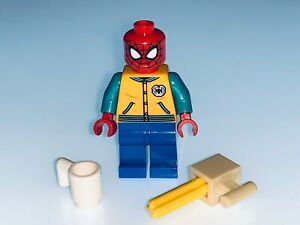 LEGO MARVEL GENUINE SPIDERMAN MINIFIGURE AND ACCESSORIES FROM 76196 - NEW