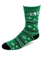 Saskatchewan Roughriders Football Green Holiday Snowflake Socks