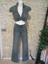 New American Blues Jean Outfit Studded Jeans Sz. 3 & Jean Jacket Sz. Small