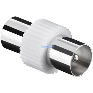 TV Aerial Lead COUPLER Male to Male COAX Connector COAXIAL PAL VIDEO Adapter