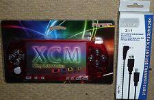 Console Sony PSP Slim Piastra circolare sul davanti Fascia MOD KIT Crystal Clear Rosso USB NUOVO!