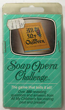 Soap Opera Challenge ALL MY CHILDREN Vintage Card Game New in Package w/Dice!