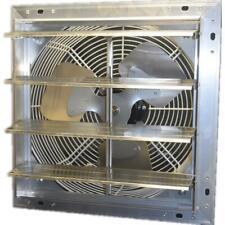 10 Inch 600 Cfm Power Shutter Wall Mounted Variable Speed Exhaust Fan Aluminum