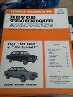 REVUE TECHNIQUE AUTOMOBILE ETUDES & DOCUMENTATION FIAT 124 SPORT 124 SPECIAL T
