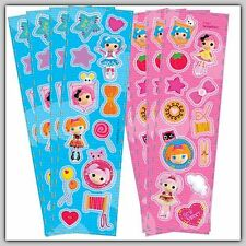 Lalaloopsy Stickers - Sealed Pack/8 Sheets -Favours - Pink/Blue - Dolls Sew Cute