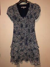 Ladies Crew Clothing Dress Rara Skirt Chiffon Feel Lined Size 10 Knee Length