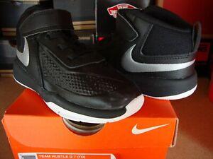 Nike Team Hustle D 7 (TD) Black Silver-White Toddler [748002-001]