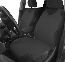 2 Grigio Scuro Sul Davanti Cotone Canotta Car Seat Covers Protettori Per FIAT 500L