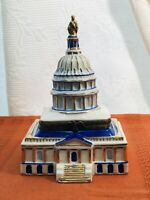 CLASSIC COLLECTIBLES PORCELAIN U.S. CAPITAL TRINKET BOX -CHINA