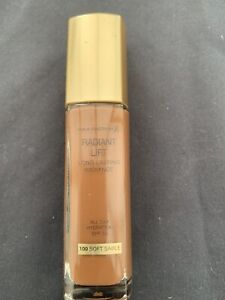 NEW & SEALED MAX FACTOR RADIANT LIFT FOUNDATION IN 100 SOFT SABLE 30ML SPF30