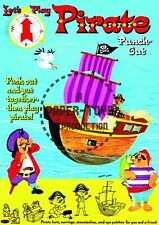 Vintage Reprint - 1960S - Let'S Play Pirate Punch-Out Book