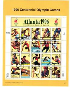 3068 Olympic Games USPS First Day Commemorative Page