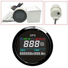 52mm Digital Multi-indicators Motorcycle GPS Speedometer Black And Black Bezel